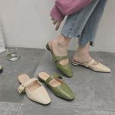 chic半拖鞋社會2019春季新款網紅包頭拖鞋百搭時尚外穿穆勒鞋雲朵