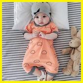 女嬰兒連體衣服夏裝新生兒5夏天3個月6薄款