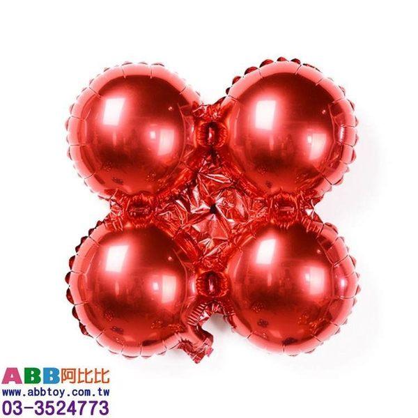 A0810-2💖四輪球_紅_33cm_10入#派對佈置氣球窗貼壁貼彩條拉旗掛飾吊飾
