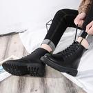 快速出貨 馬丁靴男潮百搭韓版黑色軍靴高筒短靴英倫風工裝高筒皮靴【全館免運】