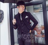 男士英倫風修身個性西裝馬甲 夜店韓版夾克兩件套裝
