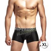 性感男內褲 情趣用品-炫麗絲滑U凸囊袋平角褲(黑)-XL-玩伴網【滿額免運】
