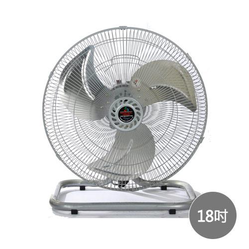 【艾來家電】【分期0利率+免運】金展輝 18吋擺頭工業扇 A-1801