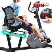 磁控躺臥式健身車(距離調整+透氣靠背)臥式車美腿機.室內腳踏車.動感單車自行車【SAN SPORTS】