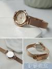 手錶女 女生手錶 伴朵手錶女簡約風氣質小巧復古女式女士女生手錶女學生小錶盤