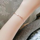 手鏈 唯酷韓國氣質個性時尚潮人十字架手鏈女款鍍18k玫瑰金首飾品禮物 維多原創 免運