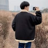(免運) 冬季羊羔毛棉衣男港風潮牌加絨加厚棉服韓版潮流寬鬆棉襖外套