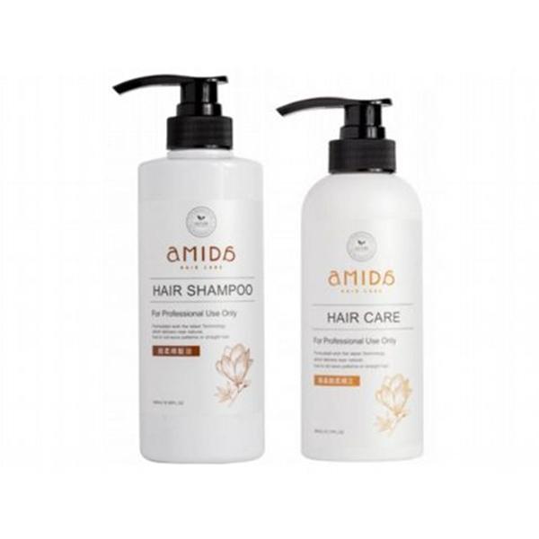 Amida 胺基酸柔順王髮膜(360ml)+柔順髮浴500ml 組合款【小三美日】
