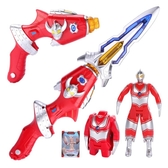 兒童奧特曼玩具變形聲光槍劍武器男孩正版奧特蛋人偶泰羅超人套裝