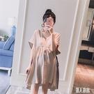 大碼孕婦洋裝春裝夏天裙子寬鬆短袖潮洋氣時尚辣媽連身裙2020個性 LR20887『麗人雅苑』