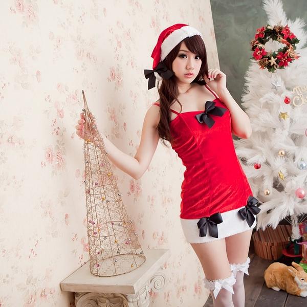 聖誕裝~熱銷款洋裝式女聖誕服裝 xmas派對服 大人聖誕服聖誕節服裝*流行E線F015
