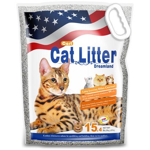 【寵物王國】CARL卡爾-天然活性碳多功能貓砂(無香/無塵/低敏)7kg