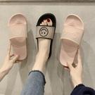 休閑網紅拖鞋女夏新款ins港風韓版家用防滑外穿時《微愛》