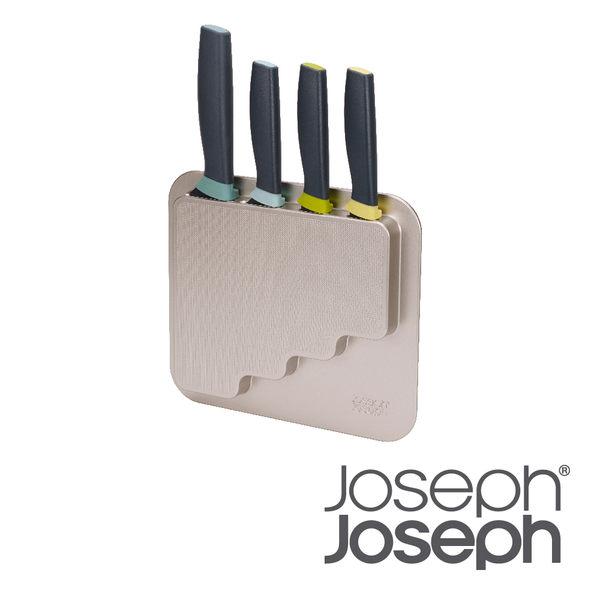 英國 Joseph Joseph 可壁掛刀具四件組含收納架
