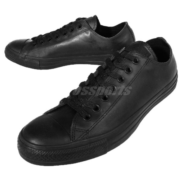 Converse Chuck Taylor All Star 全黑 防潑水 休閒鞋 女鞋【PUMP306】 151165C
