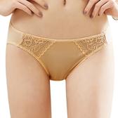 思薇爾-花緹系列M-XL蕾絲低腰三角內褲(旭日黃)