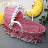 玉米皮車載草編嬰兒手提籃便攜環保嬰兒搖籃 魔法街