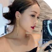 耳環 耳環女2019新款潮耳飾純銀夸張耳釘時尚個性網紅氣質長款流蘇耳墜  麻吉部落