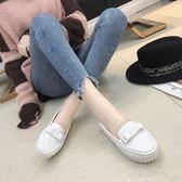 新款護士鞋軟底孕婦鞋防滑平底白色豆豆鞋工作鞋女黑色 『小宅妮時尚』