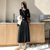 秋季2020新款氣質港味女神背心馬甲配針織洋裝兩件套裝時尚長裙   蘿莉小腳丫