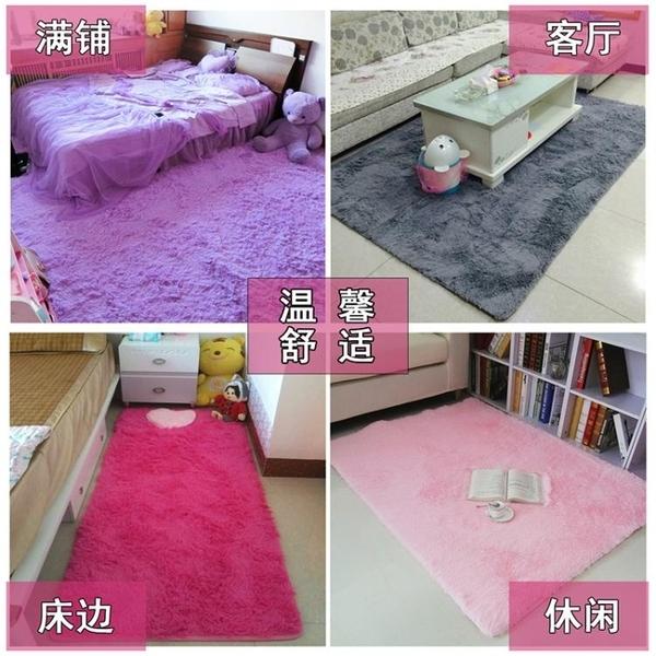 臥室地毯滿鋪床邊毯床前可愛家用客廳茶幾長方形長毛地墊腳墊