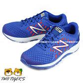 New Balance 藍色 透氣網布 運動鞋 大童鞋 NO.R1564