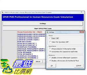 [106美國暢銷兒童軟體] SPHR PHR Study System Professional in Human Resources Certification 3,000 Sample Questions