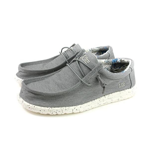 Hey Dude 休閒鞋 帆船鞋 帆布 灰色 男鞋 HD2031-809 no015