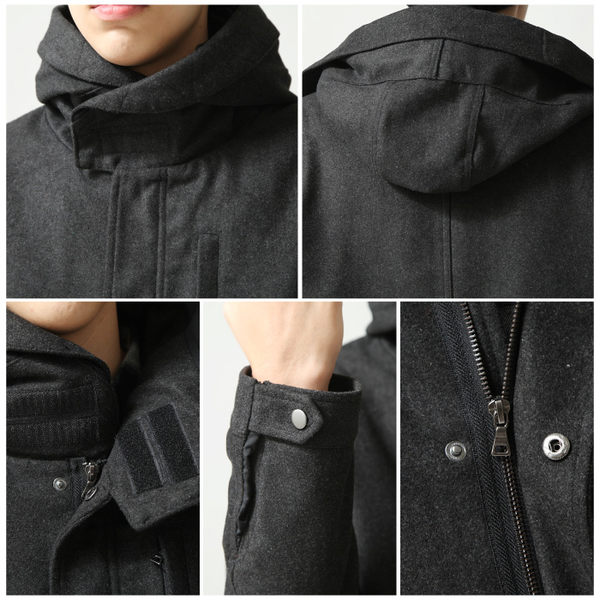 M51 鋪棉羊毛軍裝短大衣外套 共10色