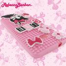 【Rebecca Bonbon】NEW HTC ONE 童趣創意拼圖保護套-甜心粉