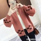 新款秋冬季加厚寬鬆中長款韓版網紅慵懶風毛衣女針織開衫外套 雙十二全館免運
