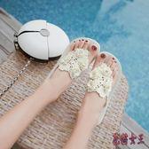 人字拖 女夏季時尚防滑夾腳涼鞋平底外穿女士涼拖鞋沙灘鞋 QX12298 【花貓女王】