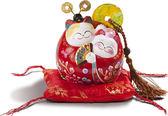 【金石工坊】花好月圓招財貓(高9.5CM)結婚禮物 情人節禮物  撲滿存錢筒