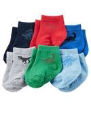 【美國Carter's】防滑嬰兒襪六雙組 - 恐龍世界系列 GB16478