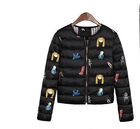 冬季棉衣小外套 短款卡通保暖羽絨棉服(四碼可選)