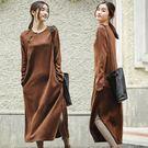 洋裝-新中式棉磨毛/設計家 Q81049...
