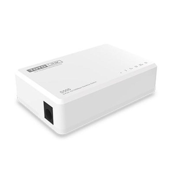 新風尚潮流 TOTOLINK 乙太網路交換器 【S505】 5埠 家用 10/100 Switch HUB 全雙工 三年保固