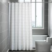 加厚浴簾套裝免打孔伸縮弧形浴簾桿隔斷簾子防水衛生間浴室掛簾布 【Ifashion】