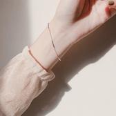 銀網紅冷淡風ins風手鍊女韓版簡約學生森繫閨蜜個性小?設計手飾