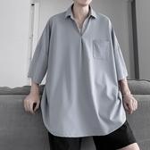夏季新款襯衫男短袖韓版潮流寬鬆百搭情侶休閒襯衣潮(快速出貨)