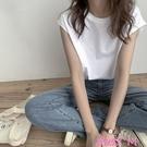 無袖T恤港風背心女夏外穿潮2021新款韓版寬鬆bf風夏季坎肩無袖T恤女上衣 JUST M