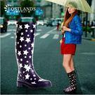 時尚春款女式雨靴高筒女士雨鞋水鞋膠鞋星星雨靴