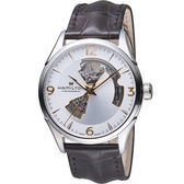 HAMILTON漢米爾頓 JAZZMASTER爵士系列OPEN HEART80小時自動腕錶  H32705551