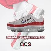 Nike 慢跑鞋 Wmns Air Vapormax 360 灰 紅 女鞋 經典款 合體系列 運動鞋 【ACS】 CK2719-001