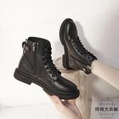 馬丁靴女厚底短靴英倫風加絨百搭機車靴靴子【時尚大衣櫥】