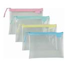 【奇奇文具】COX 850H A6 環保透明拉鍊袋(隨機色)