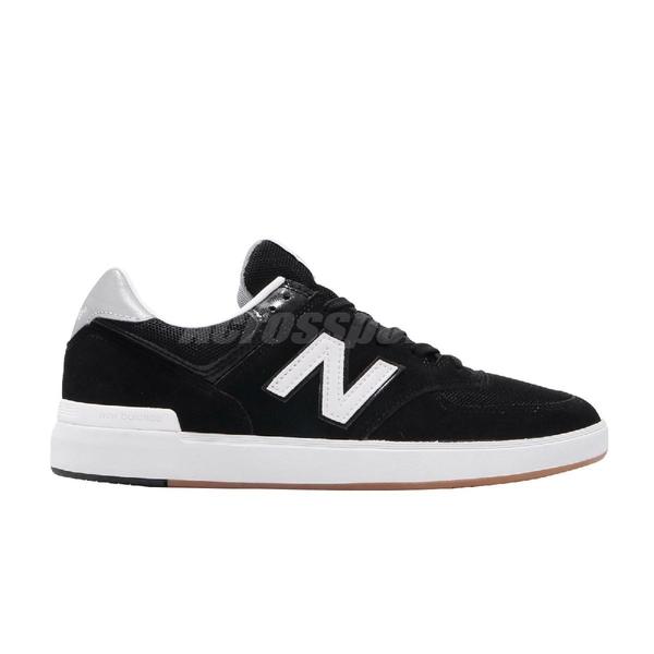New Balance 休閒鞋 574 NB 黑 白 麂皮鞋面 膠底 基本款 男鞋 運動鞋【ACS】 AM574BKGD