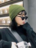 毛線帽女冬天韓版百搭綠色秋冬季學生ins針織帽子保暖加絨韓國潮  朵拉朵衣櫥
