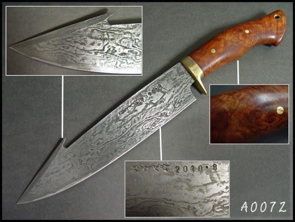 郭常喜與興達刀具--積層花紋鋼手工製作大獵刀(A0072)