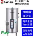 【fami】櫻花電熱水器 EH3000TS6 智慧省電 兩段定時 30加侖櫻花儲熱式電熱水器